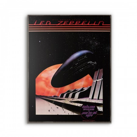 Fillmore  presents Led Zeppelin Concer poster from 1976t Wooden Poster
