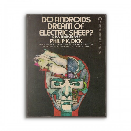 Do Android's Dream of Electric Sheep Science Fiction Book Cover 1968 Wooden Poster