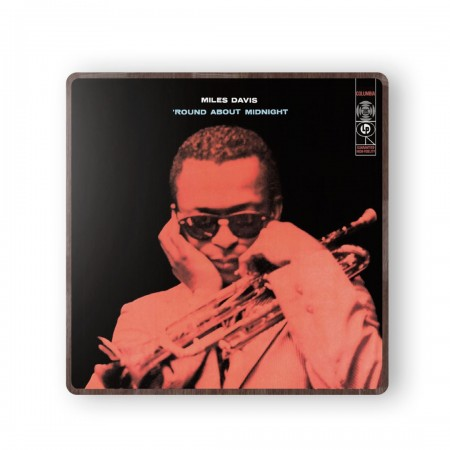 Miles Davis' Round About Midnight Album Cover from 1957 Wooden Coaster