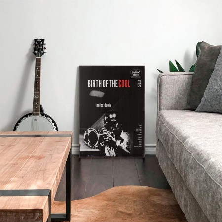 Miles Davis' Birth of the Cool Album Cover from 1957 Wooden Poster