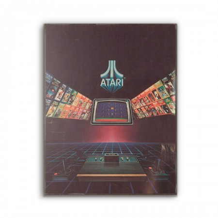 Atari Vintage Magazine Ad from 1981 Wooden Poster