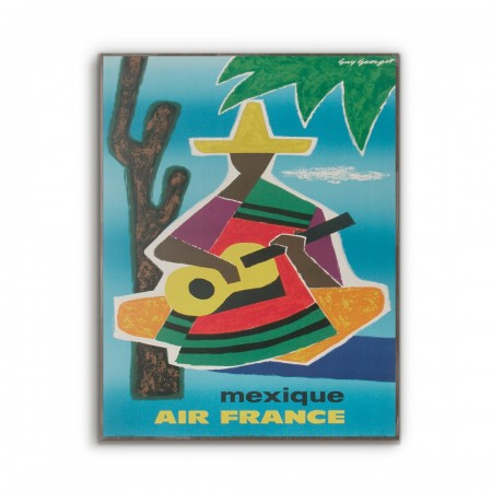 Air France - Mexico 1963 Wooden Travel Poster
