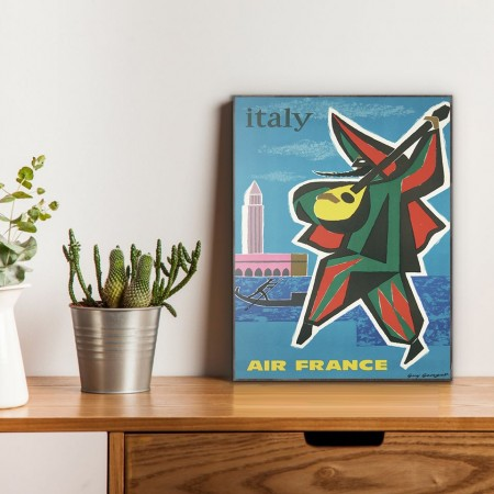 Air France - Italy 1963 Wooden Travel Poster