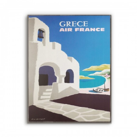 Air France - Greece 1959 Wooden Travel Poster