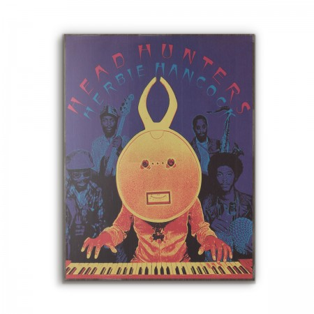 Herbie Hancock's Headhunters Album Cover from 1973 Wooden Poster