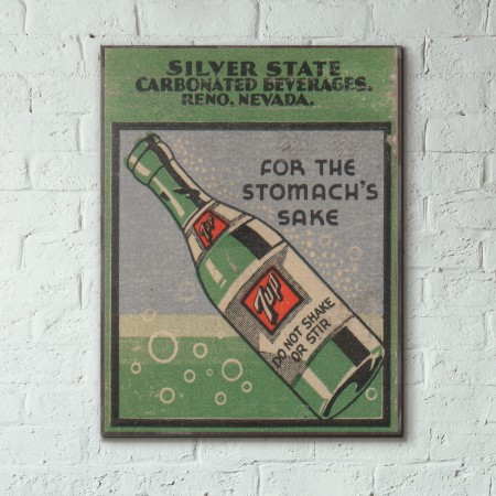 7up Vintage Ad from 1936 Wooden Poster
