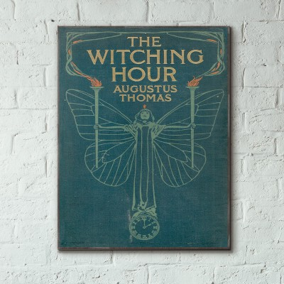 The Witching Hour by Augustus Thomas Book Cover 1908 Wooden Poster