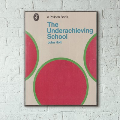 Pelican Book Covers - The Underachieving School 1969 Wooden Poster