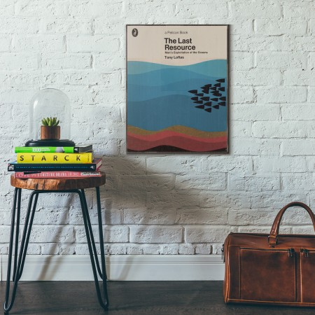 Pelican Book Covers - The Last Resource 1972 Wooden Poster