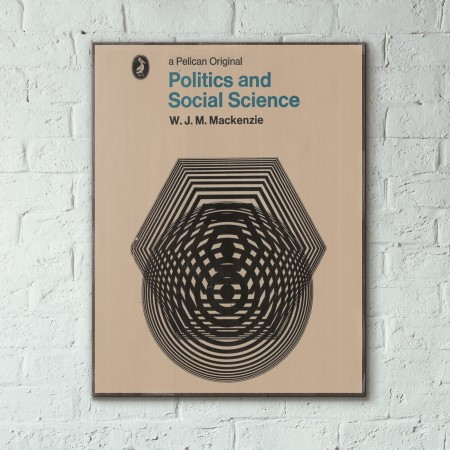 Pelican Book Covers - Politics and Social Science 1969 Wooden Poster