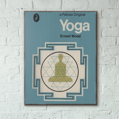 Pelican Book Covers - Yoga 1971 Wooden Poster