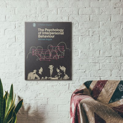 Pelican Book Covers - The Psychology of Interpersonal Behaviour 1967 Wooden Poster
