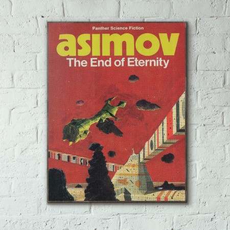Isaac Asimov's The End of Eternity Science Fiction Book Cover 1955 Wooden Poster