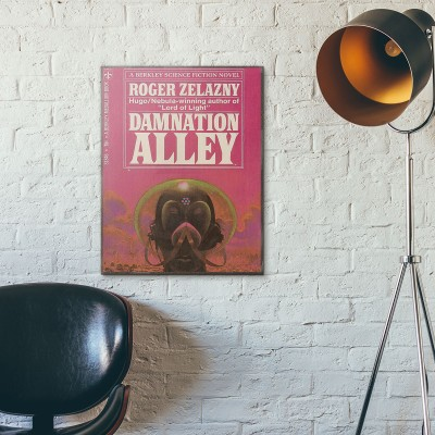 Damnation Alley Science Fiction Alternate Book Cover 1967 Wooden Poster