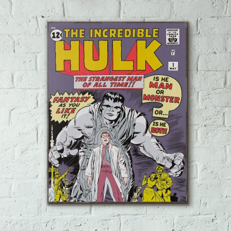 Marvel's The Incredible Hulk #1 1962 Jack Kirby Wooden Poster