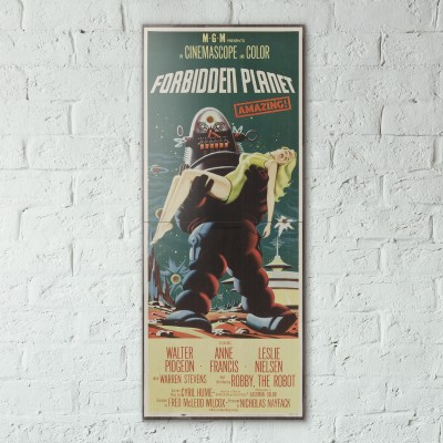 Forbiden Planet 1957 Double Wooden Poster