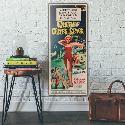 Queen of Outer Space 1958 Double Wooden Poster
