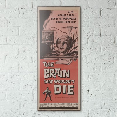 The Brain That Wouldn't Die 1962 Double Wooden Poster