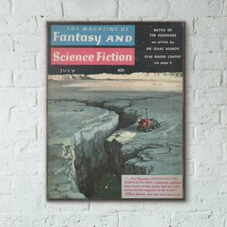 Magazine of Fantasy & Science Fiction Cover July 1959 Wooden Poster