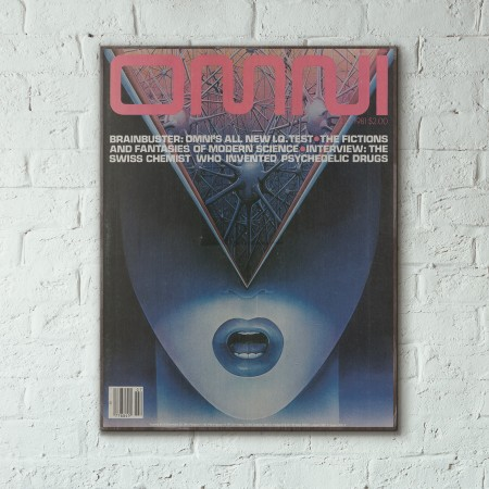 Omni Magazine Cover July 1981 Wooden Poster