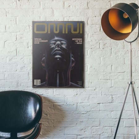Omni Magazine Cover October 1982 Wooden Poster