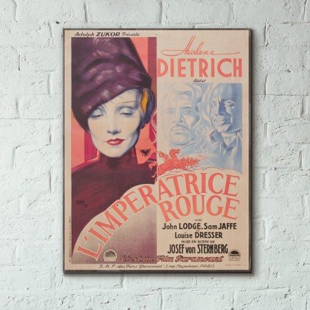 The Scarlet Empress 1934 French Wood Sign