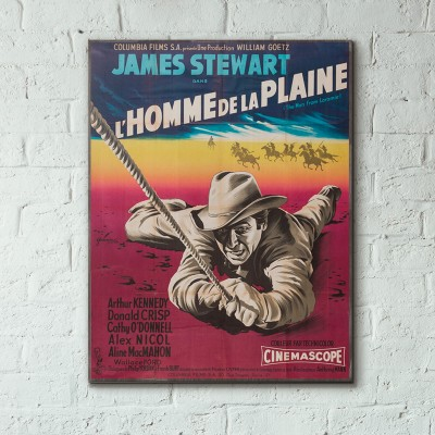 Anthony Mann's The Man from Laramie 1955 French Wooden Poster