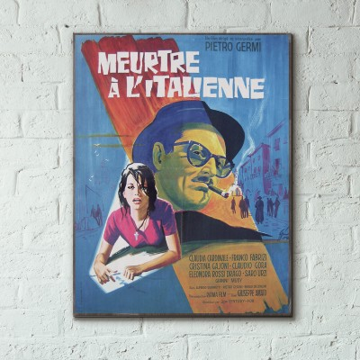 The Facts of Murder 1959 French Wooden Poster
