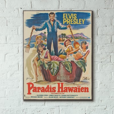 Elvis Presley's Paradise, Hawaiian Style 1966 French Wooden Poster