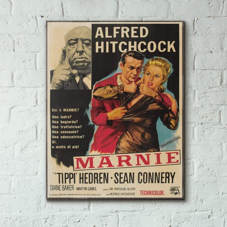 Alfred Hitchcocks' Marnie 1964 Italian Wooden Poster