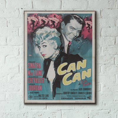 Can Can 1960 Italian Wooden Poster