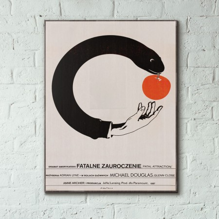 Fatal Attraction 1987 Polish Wood Sign