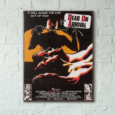 The One Man Jury Crime Film 1978 Wooden Poster