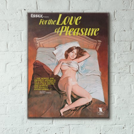 For the Pleasure of Love 1979 Sexploitation Movie Wooden Poster
